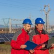 Stock Photo: Engineers at Work In a Solar Power Station