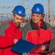 Engineers at Work In a Solar Power Station — Stock Photo #5193247