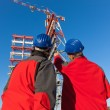 Stock Photo: Two Engineers in a Construction Site