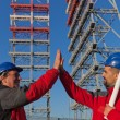 Two Engineers in a Construction Site — Stock Photo