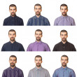Royalty-Free Stock Photo: Collection of Portraits, Man Wearing Different Shirts