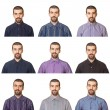 Stock Photo: Collection of Portraits, Man Wearing Different Shirts