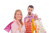 Young Couple with Shopping Bags — Стоковое фото