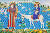 Den antika kristna mosaikkonsten — Stockfoto