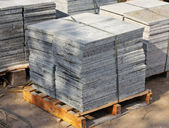 Granite tiles on pallet — Stock Photo