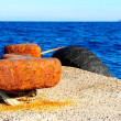 Stock Photo: Rusty Bollard