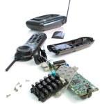 Broken Cordless phone — Stock Photo