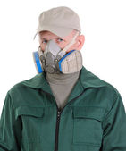 The person with respirator — Stock Photo