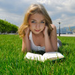 Royalty-Free Stock Photo: Girl reading outdoor