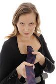 žena s kravatu — Stock fotografie