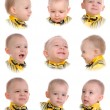 Collage. Emotions of little boy - Stock Photo