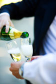Pouring Champagne — Stock Photo