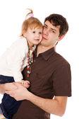 Отец, держащий дочь — Стоковое фото