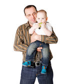 Mutlu baba — Stok fotoğraf