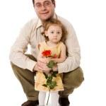 far och dotter — Stockfoto