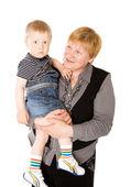 Abuela y nieto — Foto de Stock