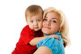 Madre figlio abbracciarsi — Foto Stock