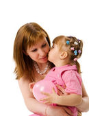 Kissing mother — Stock Photo