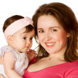 Mother holding baby — Stock Photo #5035388