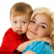Mother hugging son — Stock Photo #5253229