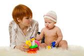 Mère jouant avec fille — Photo