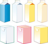 Paper cartons for milk and juice — Stok Vektör