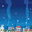 Royalty-Free Stock Vector Image: WInter in the Little Town