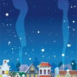 WInter in the Little Town — Imagen vectorial