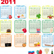 Stock Vector: 2011 Calendar of monthly events