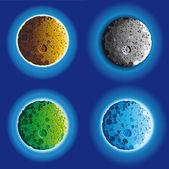 Four fool moon surface — Stock Vector