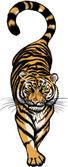 Illustration of Crouching Tiger — Stok Vektör