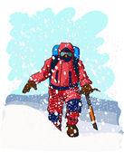Mountain climbers — Stock Vector