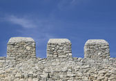 Merlons of an old fortress wall — Stock Photo