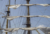 Mast of a tall ship — Stock Photo