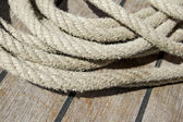 Ropes on a deck — Stock Photo
