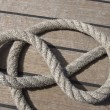 Stock Photo: Ropes on deck