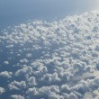 Clouds, view from airplane — Stock Photo