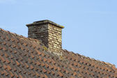 Chimney of an old house — Stock Photo