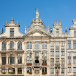 Ancient Buildings In Brussels Grand Place - Stock Photo