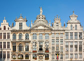 Ancient Buildings In Brussels Grand Place — Stock Photo