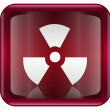Stock Vector: Radioactive icon dark red, isolated on white background.