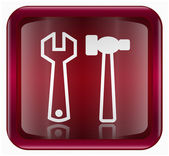 Tools icon dark red, isolated on white background — Stock Vector