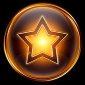 звезды золота значок, изолированные на белом фоне — Стоковое фото