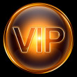 Royalty-Free Stock Photo: Vip icon gold, isolated on black background