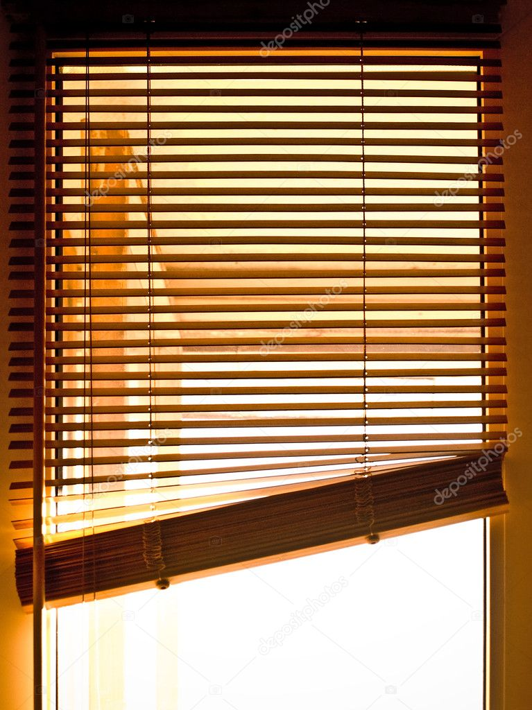 Wooden jalousies on window  Stock Photo #4046771