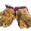 Old work gloves - Stock Photo
