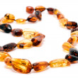 Stock Photo: Amber necklace