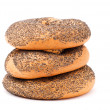 Three bagels — Stock Photo