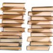 Two piles of books — Stock Photo