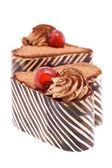 Zwei Kuchen in Herzform — Stockfoto